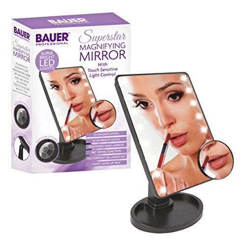 Bauer Professional Touch Sensitive Magnifying Mirror with Make Up Tray Base from Bauer