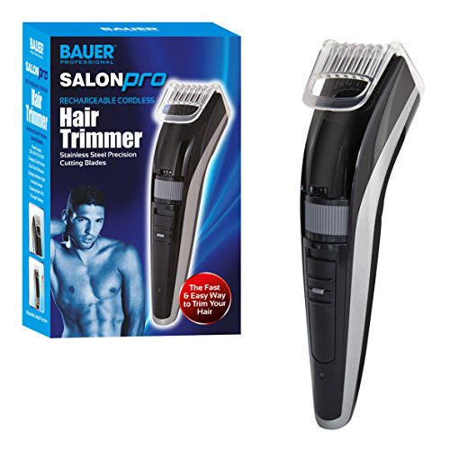 "Bauer Salon Pro Rechargeable Cordless Men""s Hair Trimmer Clippers from Bauer Professional"