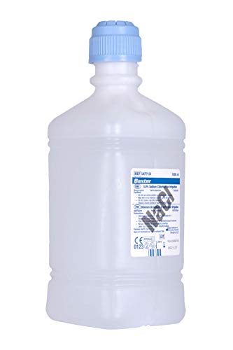 Baxter NaCl 0.9% Sodium Chloride (Saline) For Irrigation One Litre (1000ml) - Pack of 6 Bottles from Baxter of California