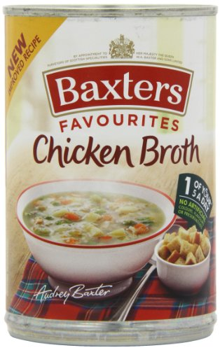 Baxters Favourites Chicken Broth Soup 400 g (Pack of 12) from Baxters