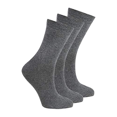 BAY6 6 Pairs Kids Back To School Plain Uniform Socks - Grey Size 4-6.5 from Bay
