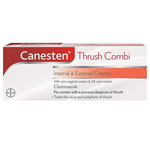 Canesten Thrush Combi Internal & External Creams, Clotrimazole, Complete Thrush Treatment from Canesten
