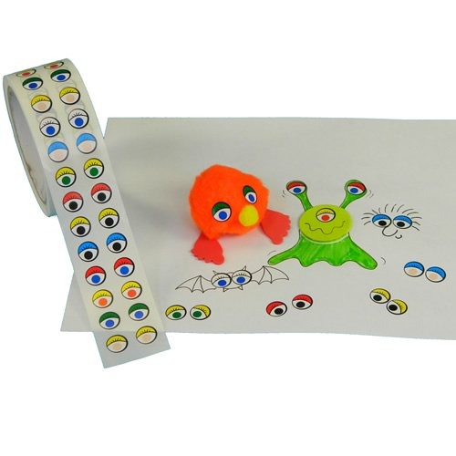 Be Creative Coloured Eye Stickers on a Roll from Be Creative