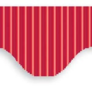 Metallic Scallop Edge Corrugated Border Roll 7.5m Metallic Red from Be Creative
