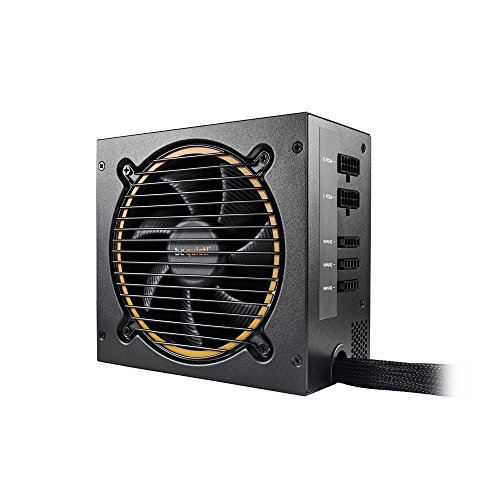 BEQUIET BN298 600 W Semi-Modular Rifle Bearing Fan Pure 11 CM Power Supply Unit - Black/Orange from Be Quiet