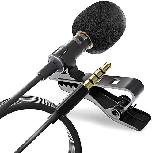 Mobile phone Condenser Microphone Professional Mini Lapel Noise Cancelling Mic Lavalier Lapel Omnidirectional Condenser Mic for IPhone Android Tablet Youtube,Interview,VideoRecording With1.5M Cable from BeWishes