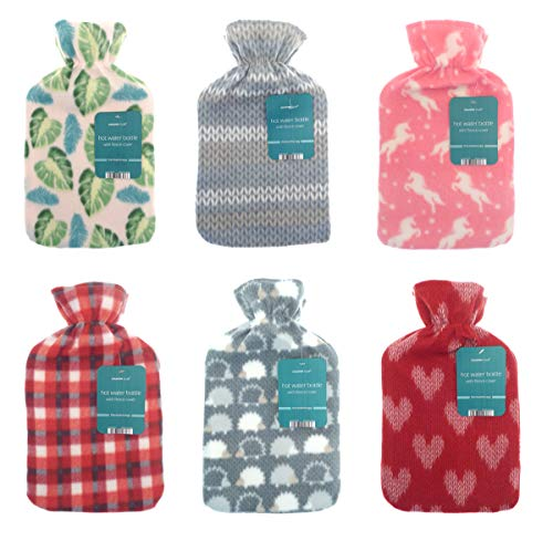 Hot Water Bottle with Soft Fleece Cover from Beamfeature