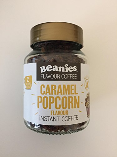 bc153bc9862 Beanies flavoured instant coffee caramel popcorn 50g jar from Beanies