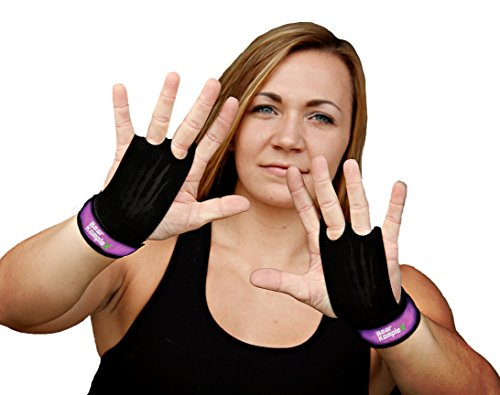 Bear KompleX 2 hole Gymnastics grips are great for WODs, pullups, weight lifting, chin ups, cross training, exercise, kettlebells, and more. Protect your palms from rips and tears! MED 2hole PURP from Bear KompleX