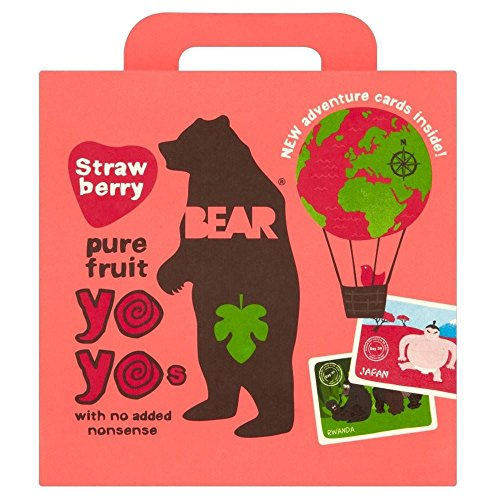 Bear Pure Fruit Yo Yos Strawberry (5x20g) - Pack of 2 from Bear