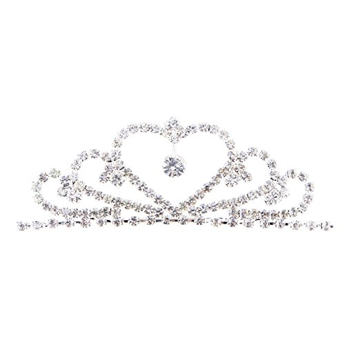 Children Rhinestone Princess Tiara Crown Pegeant Tiara Comb Crown Hair Decoration Jewelry from Beaupretty