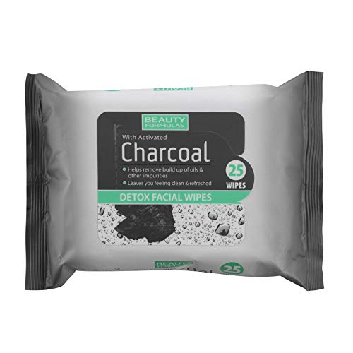 Beauty Formulas with Activated Charcoal Detox Facial Wipes 25 per pack from Beauty Formulas with Activated Charcoal Detox Facial Wipes