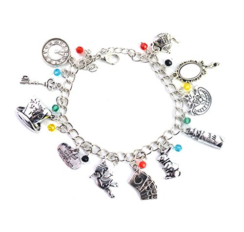 Alice In Wonderland Charm Bracelet - Jewellery For Girls With Gift Box from Beaux Bijoux