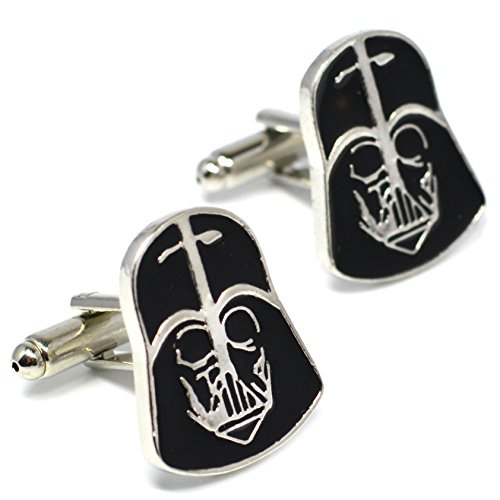 Darth Vader Mask Cufflinks - Star Wars Novelty Accessories from Beaux Bijoux