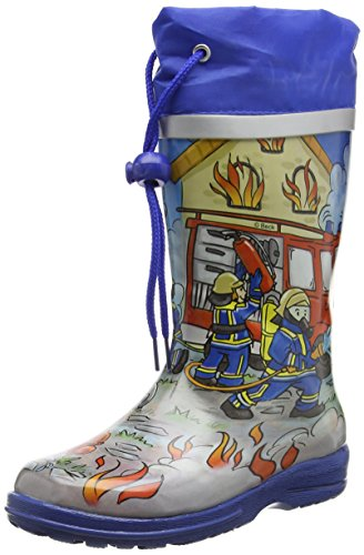 Beck Boys' Fire Wellington Boots, Multicolour (Multicolor 50), 14 UK from Beck