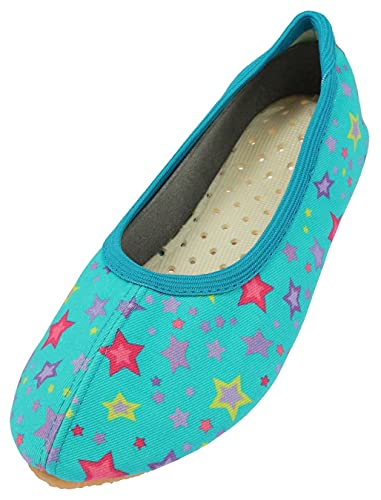 Beck Sternchen, Girls' Gymnastics Gymnastics Shoes, Turquoise (Türkis 08), 1 UK (33 EU) from Beck