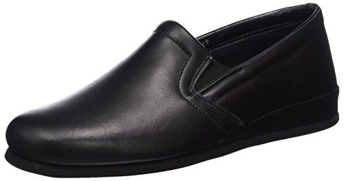 Beck Men's Alfred Open Back Slippers, Black (Schwarz 02), 10 9.5 UK from Beck