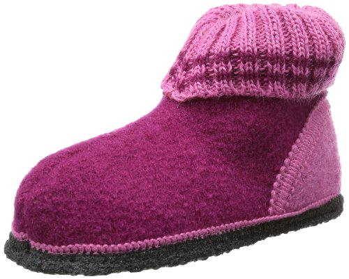 Beck Unisex Kids Ötzi Slippers, Pink (Bordeaux), 10.5 UK from Beck