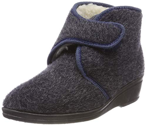 Beck Women's Evi Hi-Top Slippers, Grey Anthracite 36, 6.5 UK from Beck