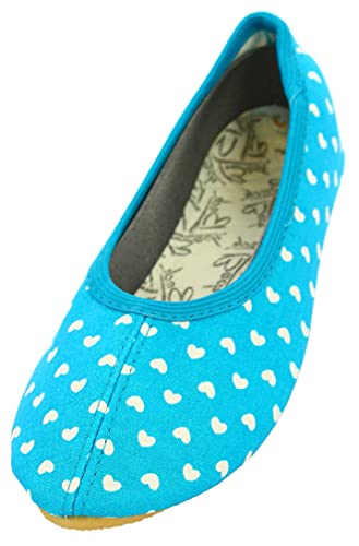 Beck Women's Herz Gymnastics Shoes, Turquoise 08, 3.5 UK from Beck