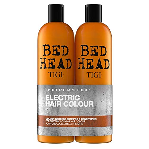 TIGI Bed Head Colour Goddess Tween Duo Oil Infused Shampoo and Conditioner, 750 ml, Pack of 2 from BED HEAD by TIGI