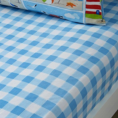 Bedlam 'Patch Seaside' Childrens Fitted Sheet, Junior from Bedlam