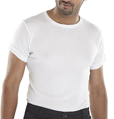SHORT SLEEVE THERMAL VEST WHITE L from Beeswift