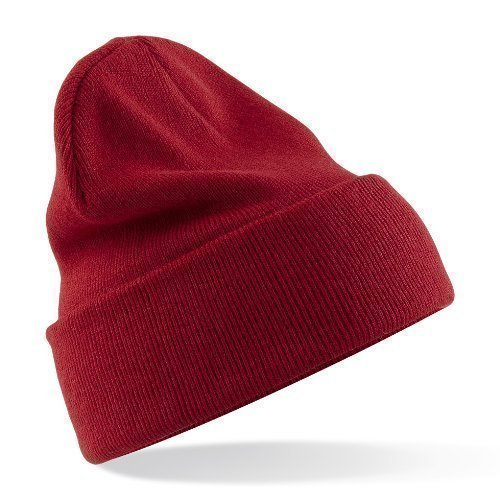 Beechfield Acrylic Knitted Hat - ONE - Classic Red from Beechfield