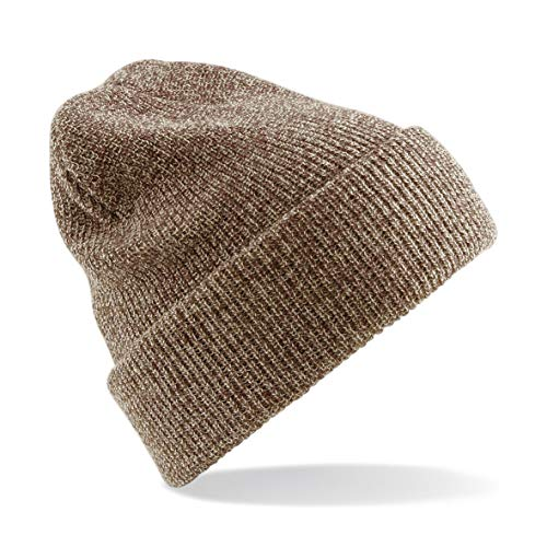 Beechfield Heritage Beanie BC425 Heather Oatmeal from Beechfield