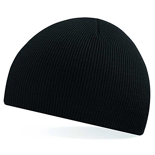 Beechfield Pull On Acrylic Knitted Hat Baseball Cap, Black, One Size from Beechfield