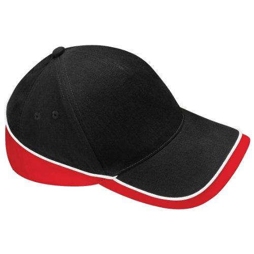 Beechfield Teamwear Competition Cap in Black / red / white from Beechfield