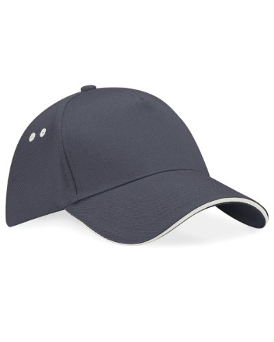 Beechfield Ultimte Sandwich Peak Cap Colour=Graphite Grey/oyster Grey Size=O/S from Beechfield