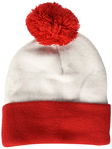 Beechfield Unisex Snowstar Two-Tone Beanie, Red/White , One Size from Beechfield