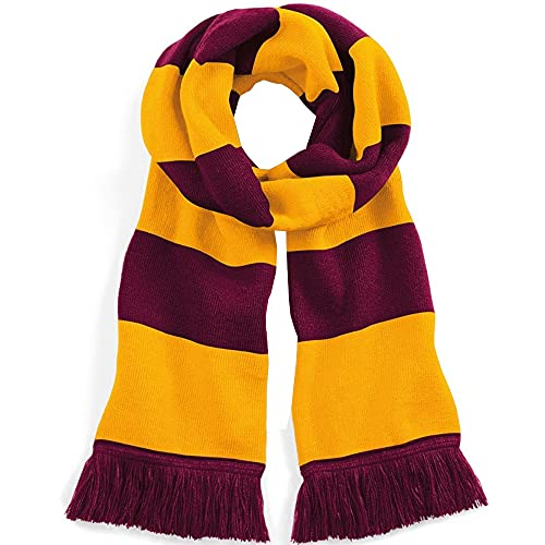 Beechfield Stadium Scarf, Multicolour (Burgundy/Gold 00), One (Size:One Size) from Beechfield