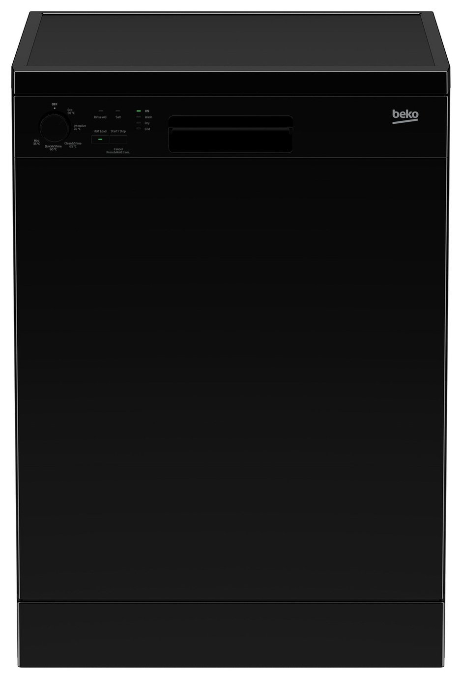 Beko DFN05310B Full Size Dishwasher - Black from Beko