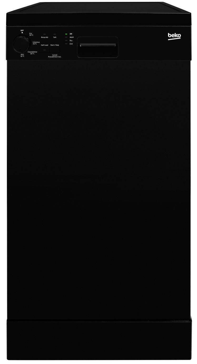 Beko DFS04010B Slimline Dishwasher - Black from Beko