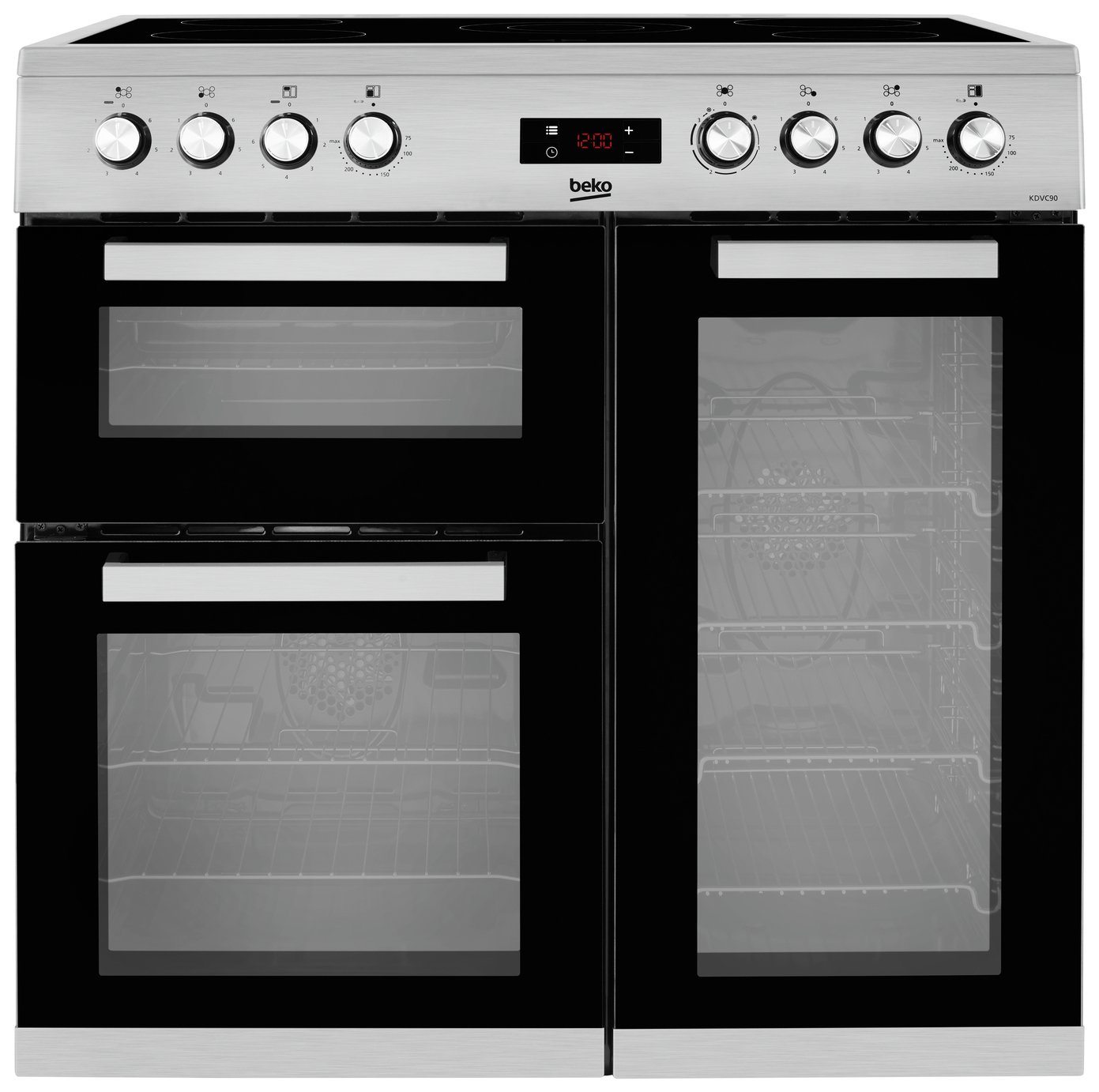 Beko KDVC90X 90cm Electric Range Cooker - Stainless Steel from Beko