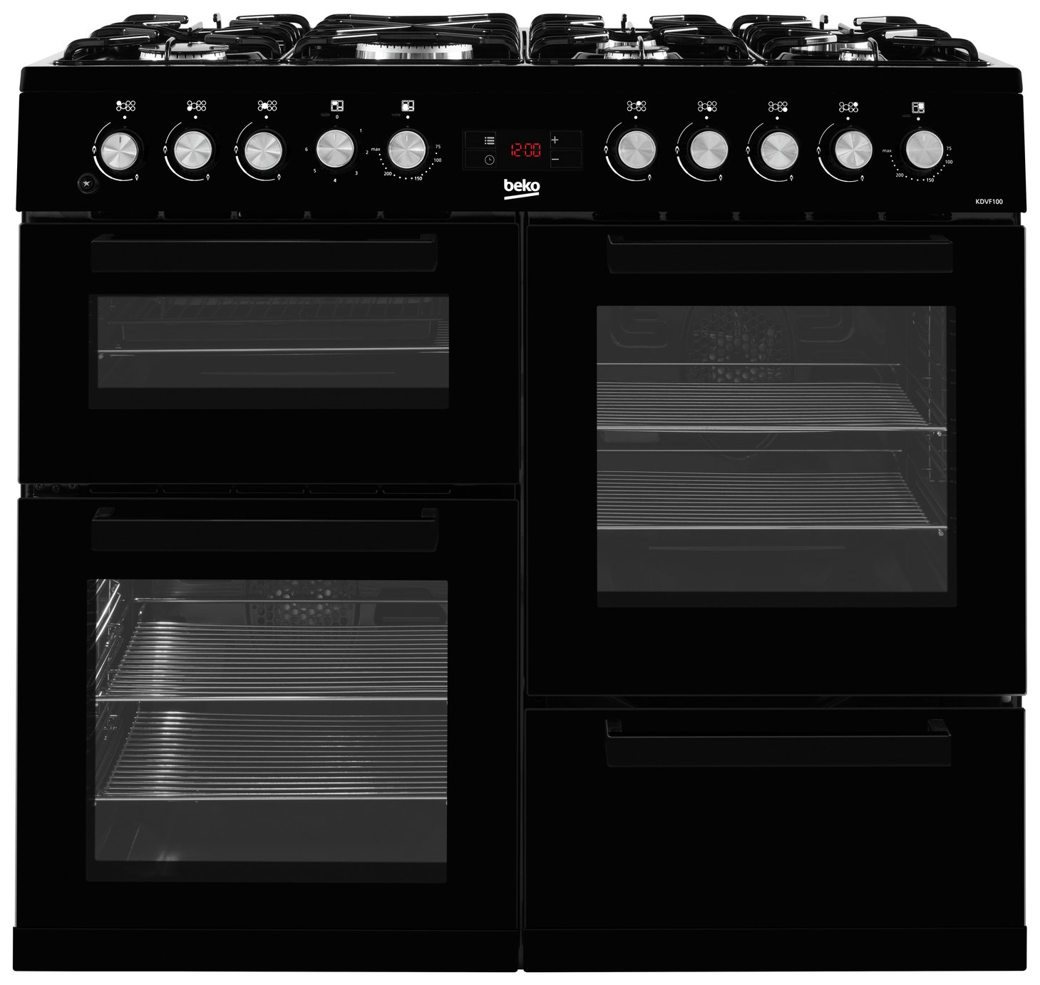 Beko KDVF100K 100cm Dual Fuel Range Cooker - Black from Beko