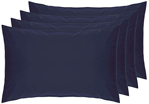 Belledorm 4 PACK Blue Pillowcases, 7 Year Guarantee, 200 Thread Count Percale (Housewife, Navy) from Belledorm