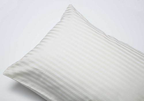 Belledorm Hotel Suite Satin Stripe - 4 PACK Housewife Pillowcases - 540 Thread Count (Ivory) from Belledorm