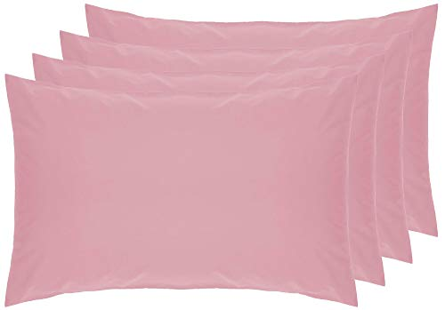 Belledorm 4 PACK Pink Pillowcases, 7 Year Guarantee, 200 Thread Count Percale (Housewife, Blush) from Belledorm