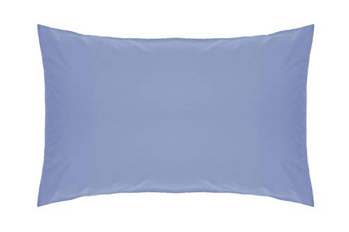 Belledorm Blue Housewife Pillowcase - 200 Thread Count Percale - Sky Blue from Belledorm
