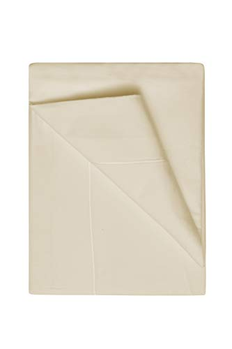 Belledorm Egyptian Cotton Flat Sheet - 400 Thread Count - Can be used as a top sheet or bottom sheet (Single, Cream) from Belledorm