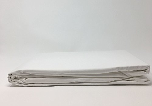 "Belledorm Egyptian Cotton 15"" Fitted Sheet 400 Thread Count (38cm Extra Deep) To fit mattress up to 15 inches extra deep (Single, White) from Belledorm"