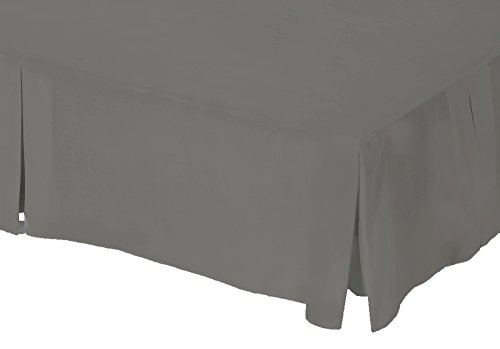 Belledorm Grey Platform Base Valance Sheet, 200 Thread Count Percale (King Size) from Belledorm