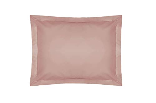 Belledorm Pink Pillowcase, 200 Thread Count Percale (Oxford, Blush) from Belledorm