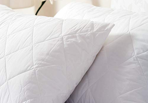 Belledorm Quilted Pillow Protector - Anti-Allergy Protection - 100% Cotton Percale Surface (Standard, White) from Belledorm