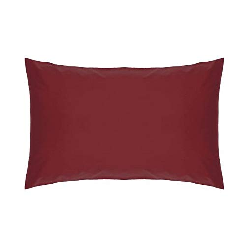 Belledorm Red Housewife Pillowcase - 200 Thread Count Percale from Belledorm
