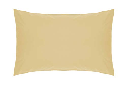 Belledorm Yellow Housewife Pillowcase - 200 Thread Count Percale - Honeydew from Belledorm