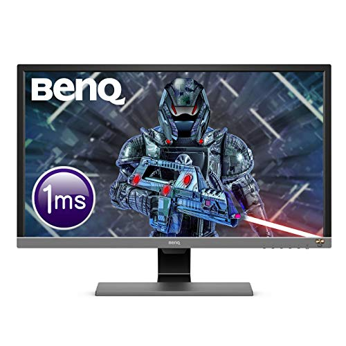 BenQ EL2870U 28 Inch UHD 4K 1 ms HDR Eye-Care LED Gaming Monitor, Free-Sync, B.I. Plus Sensor, HDMI, Display Port, Speaker - Metallic Grey from BenQ
